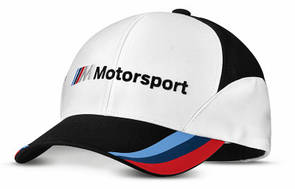Бейсболка BMW Motorsport Fan Cap, Unisex, White/Black