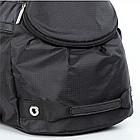 Спортивная сумка Dolly 940 L-58 см. W-26 см. H-32 см. Чёрный, фото 4