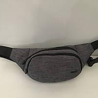 Поясная сумка серая Puma 2 отделения (Бананка, Сумка на пояс, сумка на плечо), фото 1