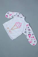 Красивая детская распашонка для новорожденной девочки из хлопка