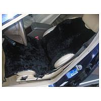 Авто чехол из натуральной цельной коже цигейки черный майка