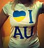 Футболка женская EGO 100% хлопок I love UA размер 2XL
