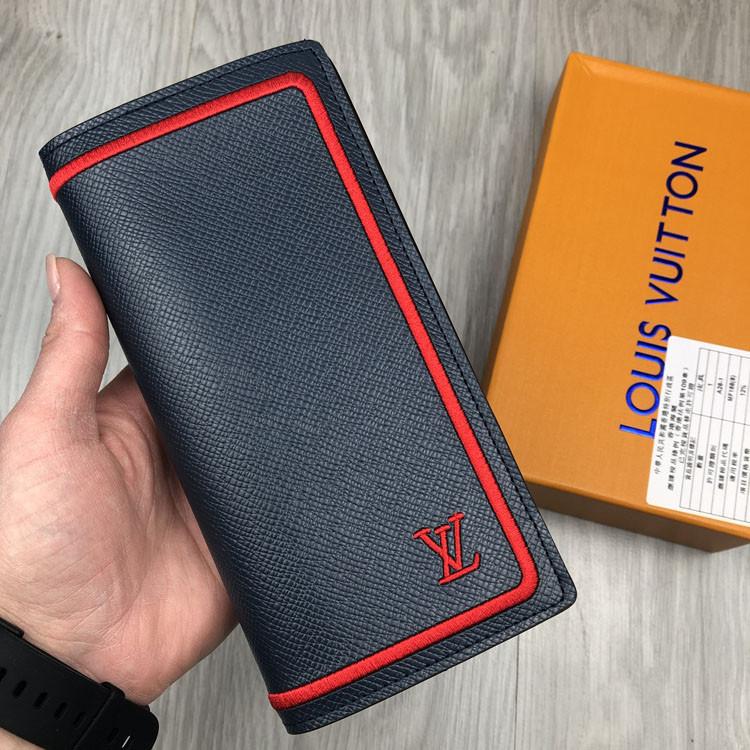 Модный кошелек Louis Vuitton серый натуральная кожа Люкс портмоне Трендовое Молодежное Луи Виттон копия