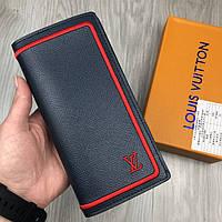 Модный кошелек Louis Vuitton серый натуральная кожа Люкс портмоне Трендовое Молодежное Луи Виттон копия, фото 1