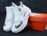Белые кроссовки Nike Air Huarache Off White , фото 1