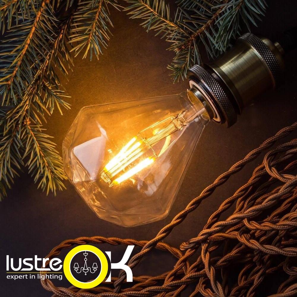 Лампа Эдисона led  RUSTIC DIAMOND-4