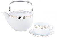 Сервиз чайный Betta DPL Mix Dots Gold 6/17 020322