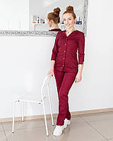 Медицинский женский костюм Лотос марсала, фото 1