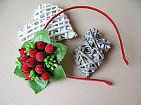 Обруч с калиной сахарной, тычинками и листочками 50 грн, фото 1
