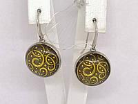 Серебряные серьги с эмалью. Артикул 1125187, фото 1