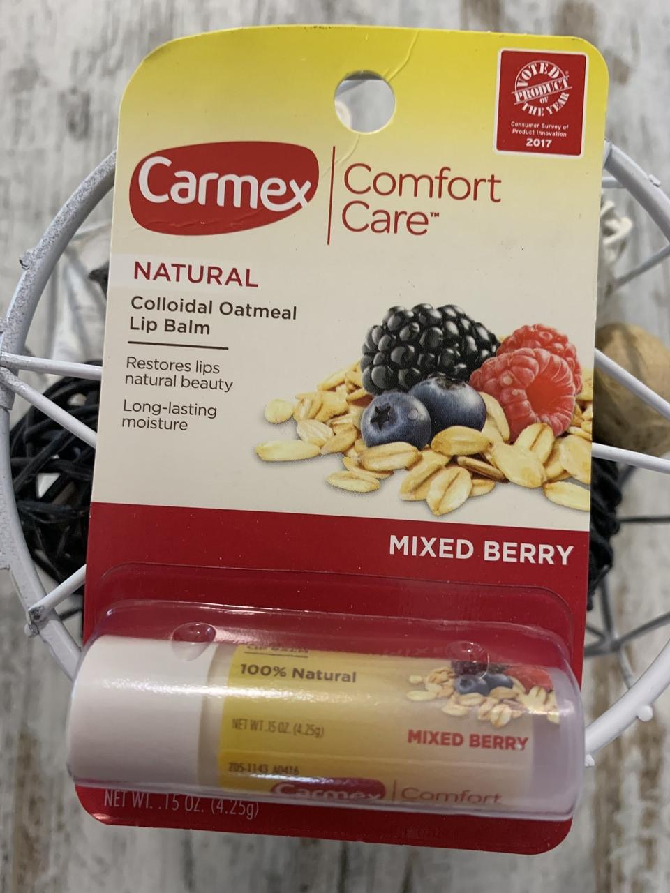 Carmex Бальзам для губ длительное увлажнение Ягодный микс