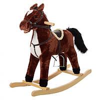 Лошадка-качалка музыкальная (Темно-коричневый) MP 0081K