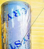Пленка ПВХ СИЛИКОН 150мкм плотность \ Рулон 73,3м. Ширина 1.40м. Гибкое стекло. Прозрачная. Crystal