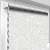 """Тканевые рулонные шторы """"Oasis"""" венеция (белый), РАЗМЕР 67,5х170 см, фото 1"""