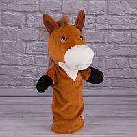 Игрушка рукавичка для кукольного театра Лошадка, кукла перчатка на руку