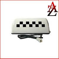 Шашка ТАКСИ на магните белая с подсветкой