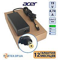 Зарядное устройство для ноутбука 5,5-1,7 mm 4,74A 19V Acer класс A++ (кабель питания в подарок) нов