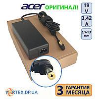 Зарядное устройство для ноутбука 5,5-1,7 mm 3,42A 19V Acer оригинал бу, фото 1