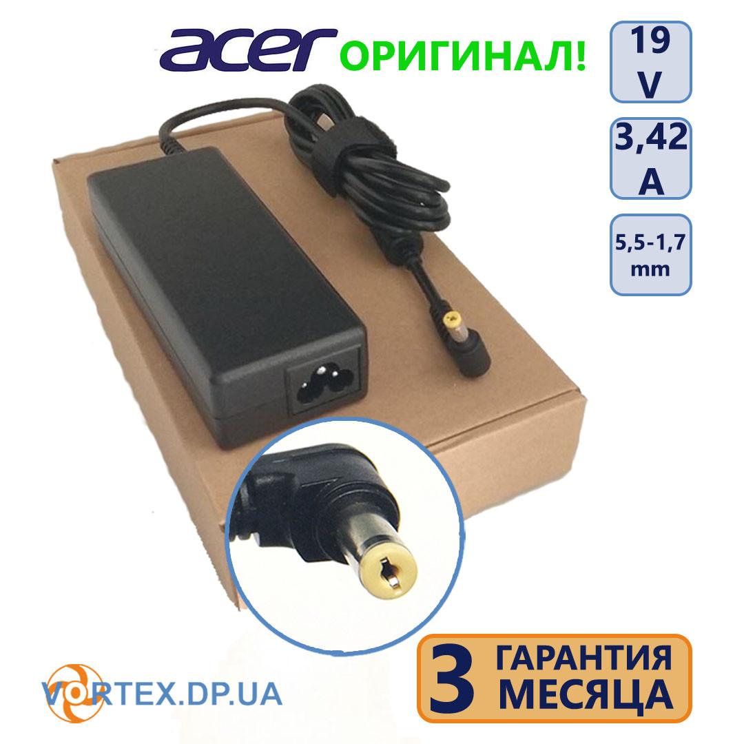 Зарядное устройство для ноутбука 5,5-1,7 mm 3,42A 19V Acer оригинал бу