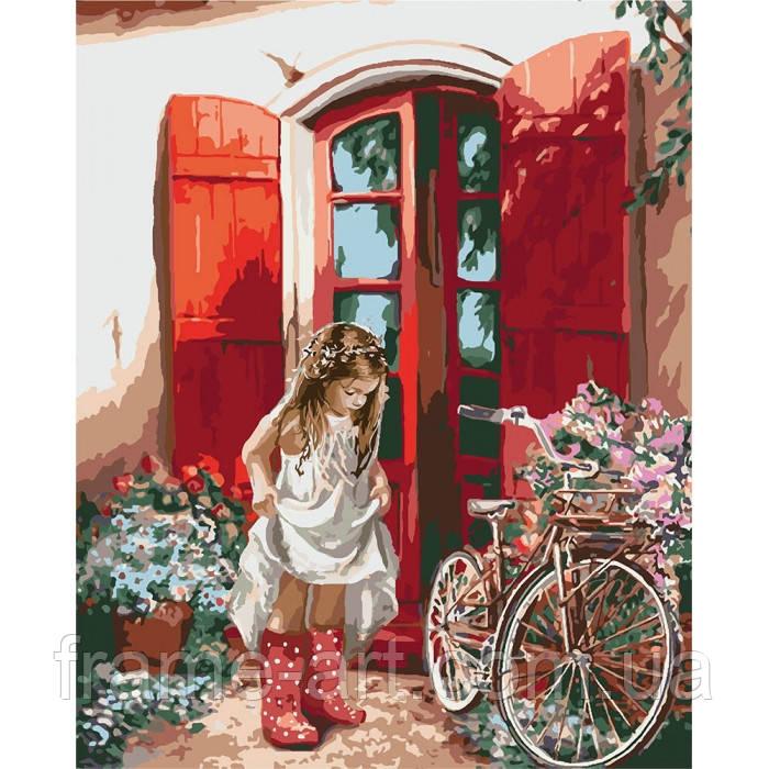 Рисование по номерам КНО2324 Маленькая принцесса 40*50см