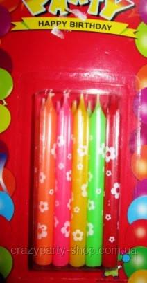 Свечи для торта с с цветочками