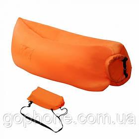 Надувной портативный диван-шезлонг LAMZAK 2.2М (Оранжевый)