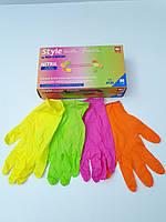 Перчатки Нитриловые TUTTI FRUTTI 4 цвета в упаковке