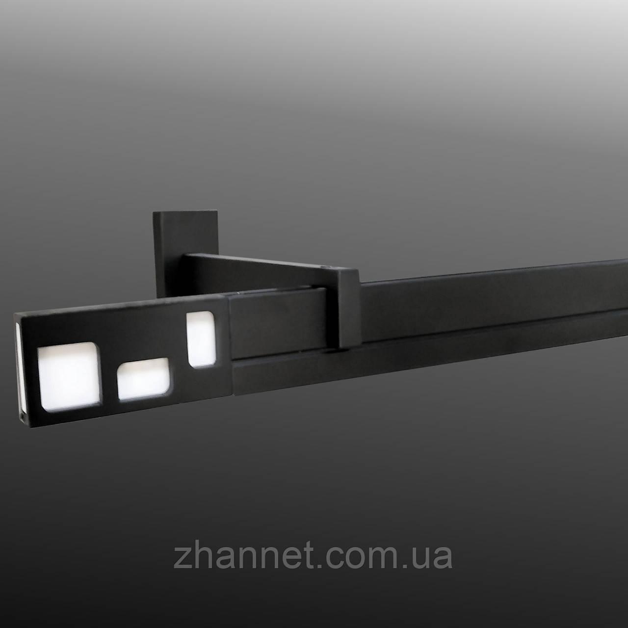 Карниз для штор Square  Line Interno однополосный черный матовый