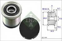 Шкив (муфта) генератора на Opel Vivaro 1.9 CDTi, Опель Виваро 1.9 цдти, 6 пазов. Ina 535003010