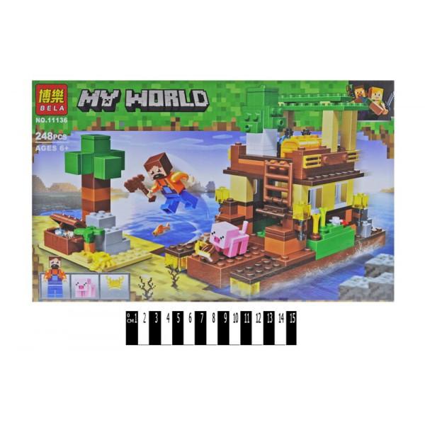 """Конструктор Bela 11136 """"Остров сокровищ"""" (аналог Lego Майнкрафт, Minecraft), 248 дет"""