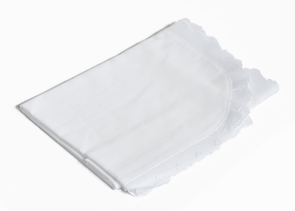 Крыжма для крещения Twins 100х80 сатин white