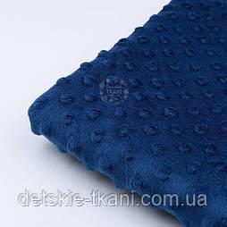 "Отрез плюша minky цвет ""ночной синий"" М-11136, размер 40*40 см"