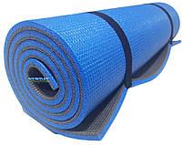 Коврик для йоги и фитнеса, 1800×600×12мм, ХС ППЭ, двухслойный
