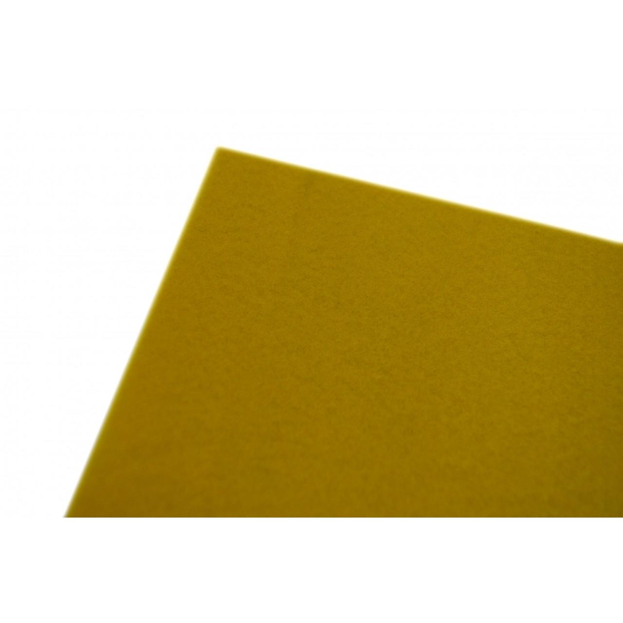 Фетр  м'який, жовтий , 21*30см (10л) Santi