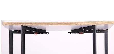 """Стол обеденный раскладной Итака DT-62 черный/МДФ дуб Сонома ТМ """"AMF"""", фото 3"""
