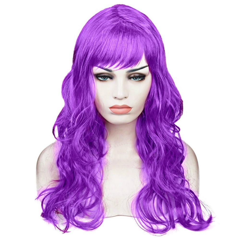 Парик Волнистый (фиолетовый) 60см