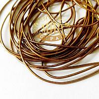 Канитель мягкая гладкая, цвет Коричневый, диаметр 1мм*5 грамм