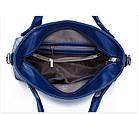 Набор женских сумок 4 предмета серого цвета Брелок в подарок! 01131, фото 3