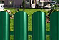 Металлический штакетник двухсторонний зеленый