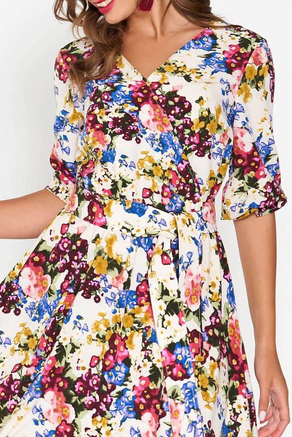 Летнее платье расклешенное с цветочным принтом, фото 2