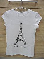 Футболка женская EGO 100% хлопок с рисунком Эйфелева башня размер XL, фото 1