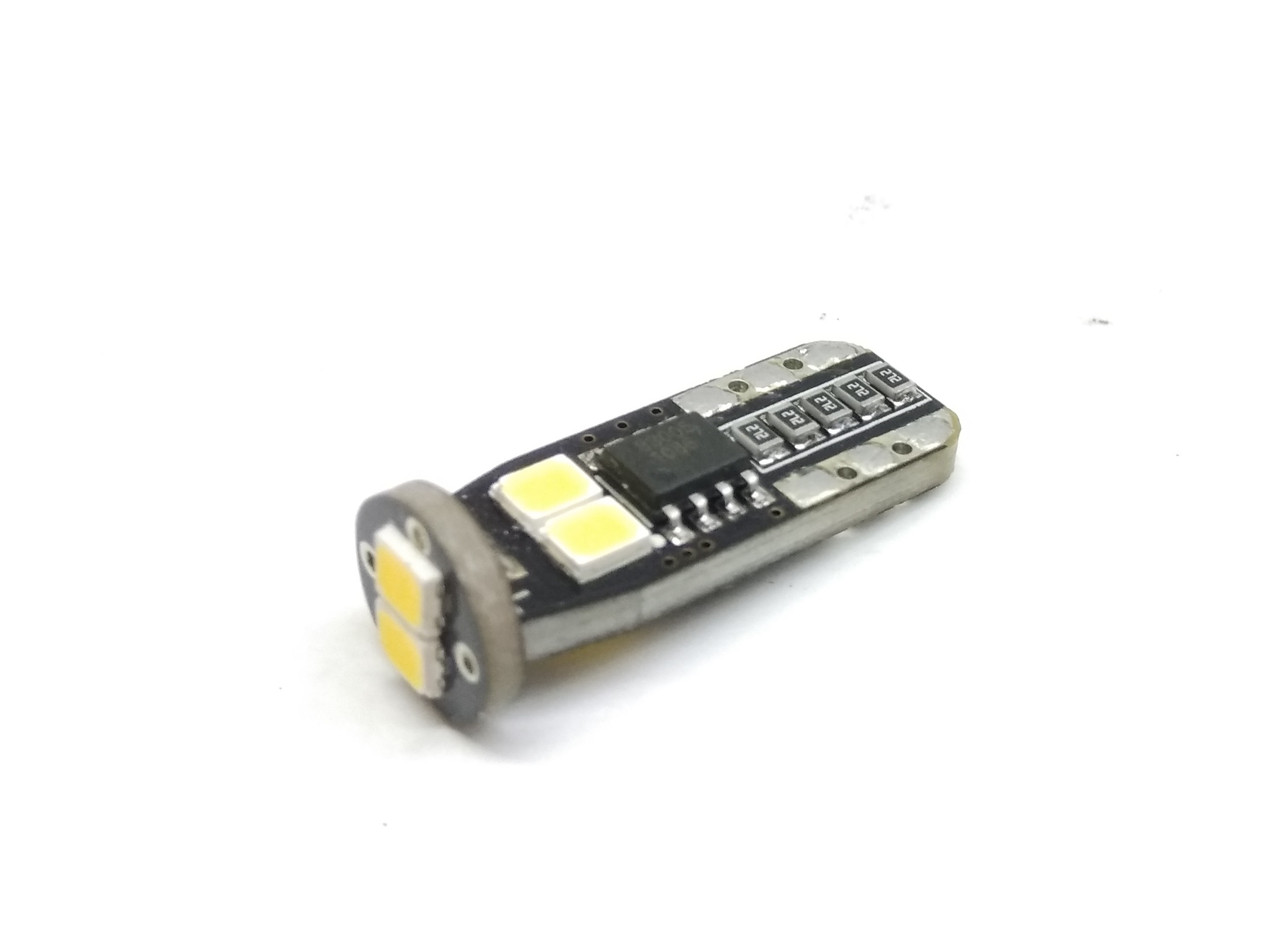 Автолампа LED T10, W5W, 6SMD, 2835, CANBUS белый