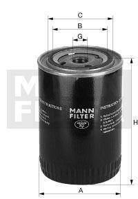 Фильтр масляный / MANN FILTER / W 962/2