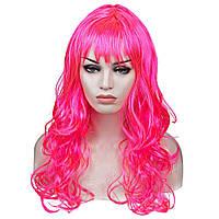 Парик Волнистый (розовый) 60см