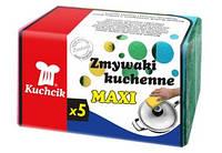 Губки maxi для посуды 5 шт  KUCHCIK