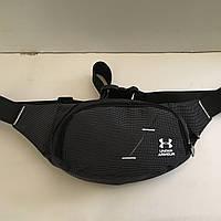 c33043b73450 Поясная сумка черная Under Armour 2 отделения (Бананка, Сумка на пояс, сумка  на