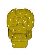 Чехол на сидение к стульчику для кормления DavLu Цифры зеленый (Ch-033), фото 1