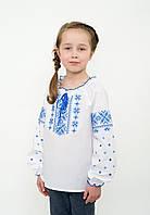Дитяча вишиванка для дівчинки довгий рукав, арт. 4333