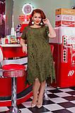 """Элегантное нарядное женское платье """"папоротник""""50-56р. (3расцв), фото 9"""