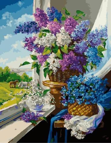 Картина за номерами Травневі квіти біля вікна